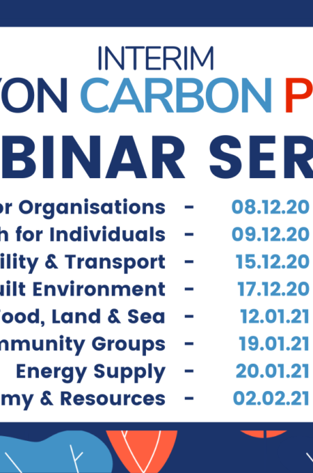 Interim Devon Carbon Plan Webinar Series