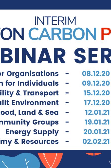 Interim Devon Carbon Plan Webinar Series